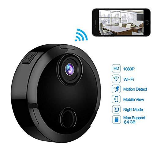 Ocamo - Minicámara IP Wifi HD 1080P infrarroja de visión nocturna, videocámara de red 150° gran angular, control remoto,...