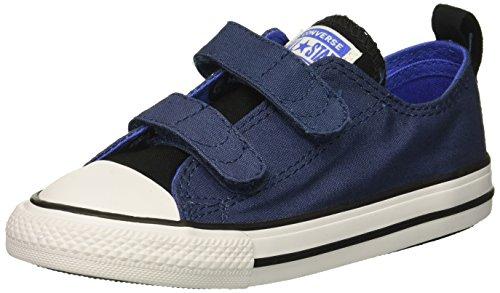 Converse Boys' Chuck Taylor All Star 2V Sneaker, Blue/Grey, 8 M US Toddler -