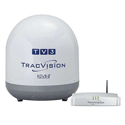 Kvh Tv - KVH Industries 01-0368-07 TracVision TV3 w/IP-TV Hub Boating Antennas