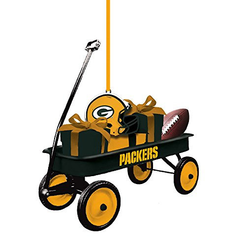 Bay Ornaments Packers Green - Team Sports America 3OT3811WGN Green Bay Packers Team Wagon Ornament