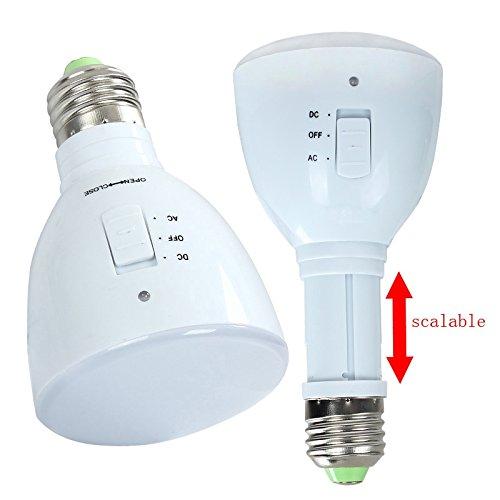 Cacys Store - Bulb Flashlight LED Emergency Light Bulb E27 4W 33 LED Rechargeable White Light Magic lamp Camping Multifunction Emergency Light
