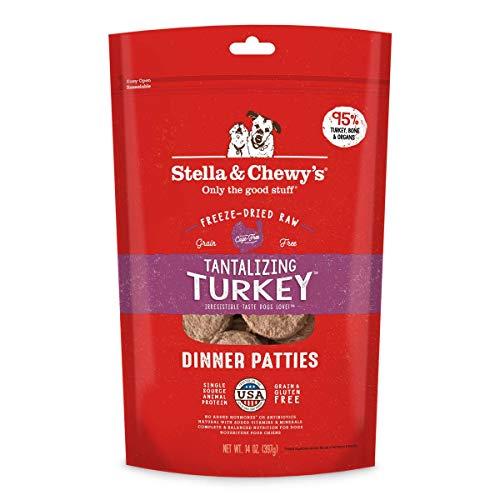 Stella & Chewy's Freeze-Dried Raw Tantalizing Turkey Dinner Patties Grain-Free Dog Food, 14 oz ()
