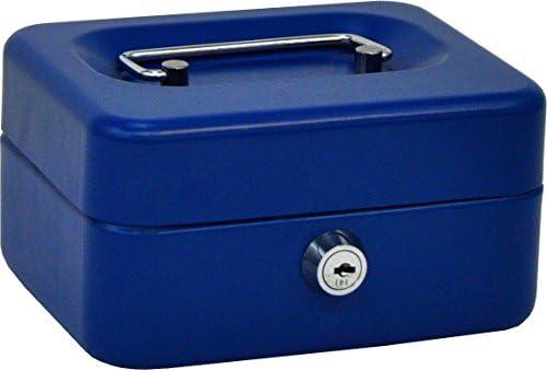 OLLE B152G Caja de caudales con Bandeja Extraible Color Gris, Azul ...
