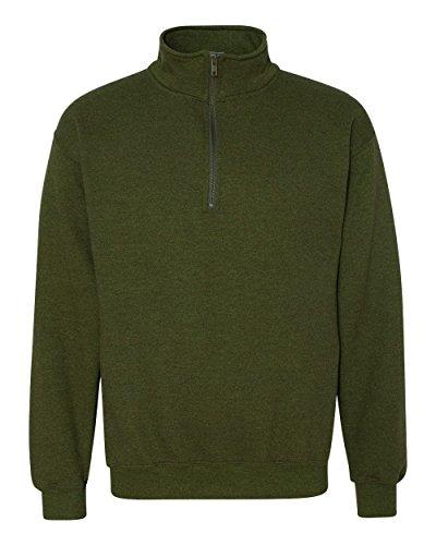Gildan Heavy Blend 8 oz. Vintage Classic Quarter-Zip Cadet Collar Sweatshirt (G188)- MOSS,M