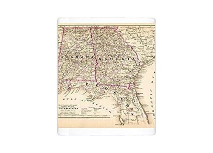 Map Of Florida And Georgia.Amazon Com Mug Of Alabama Florida Georgia Map 1881 13669251
