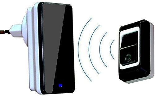 Safebao® Plug-in Wireless Drahtlose Wasserdichte Türklingel, 28 Klingeltöne (1 Klingelknopf + 1 Empfänger)