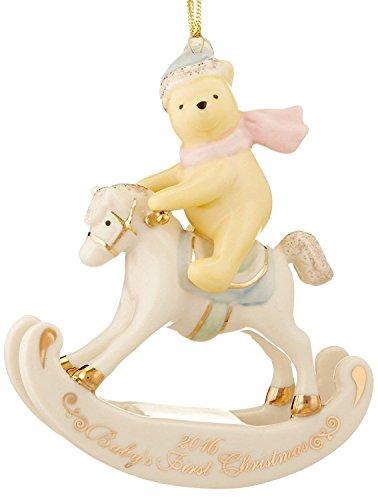 Lenox Disney 2016 Pooh Baby's 1st Christmas Ornament First Rocking ()