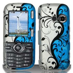LG Cosmos VN250 / Rumor 2 LX265 (Sprint/Verizon) Blue/Silver Vines Hard Design Plastic Snap On Case Cover + Car Charger + Free Neck Strap + Free Opening Tool (Lg Cosmos Vn250 Case compare prices)