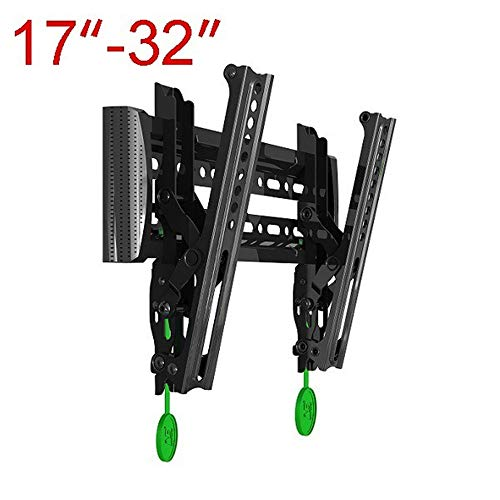 LBYMYB TV Stand 17-37 Inch New Self-Locking TV Stand Flat LCD TV Wall Mount Tilt Monitor Stand TV Rack (Color : A)