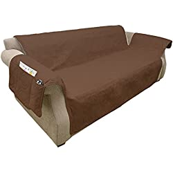 Furniture cover, 100% Waterproof Protector Cover for Couch/Sofa by PETMAKER, Non-Slip, Stain Resistant, Great for Dogs, Pets, and Kids - Brown