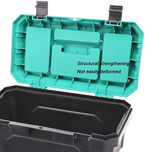Toolbox Plastic Tool Box with Tray Multi-Function Large Capacity Double-Layer Toolbox for Home Tool Storage (14 Inches/17 Inches/19 Inches) Tool Organizers (Size : L)