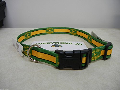 "John Deere Nylon Dog Collar with 1950 Logo LARGE Fits 18-26"" - LP44124"
