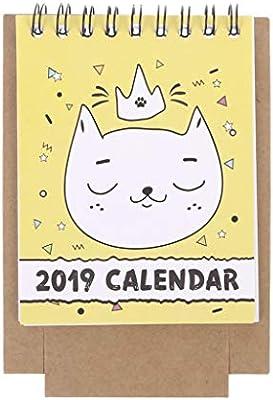 Office & School Supplies Calendars, Planners & Cards 2019 Cute Cartoon Desktop Paper Calendar Multi-function Timetable Plan Notebook