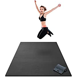 Premium Extra Thick Large Exercise Mat – 7′ x 4′ x 8mm Ultra Durable, Non-Slip, Workout Mats for Home Gym Flooring…