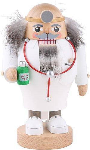 German nutcracker doctor, height 19 cm / 8 inch, original Erzgebirge by Richard Glaesser Seiffen