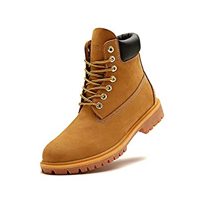 INVICTUSME Men's OW Timber Hiking Ankle Boots Steel Toe Waterproof Work Boots Trail Shoes