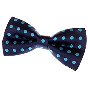 """Classic Polka Dots Woven Microfiber Pre-tied Bow Tie (5"""") - Various Colors"""