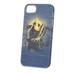 Case Fun Apple iPhone 5 / 5S Case - Vogue Version - 3D Full Wrap - Graffiti Grim Reaper Smiley