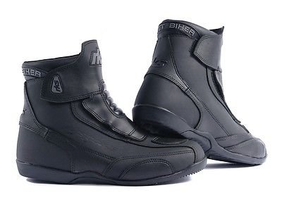RK-2 SHORT LEATHER CRUISER ANKLE MOTORBIKE MOTORCYCLE ANKLE BOOTS ...