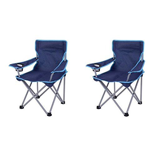 Ozark Trail Kids Folding Camp Chair Navy x2 Sporting Goods Outdoor Recre