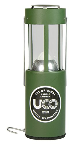 UCO Original Collapsible Candle Lantern, Powder Coated Green