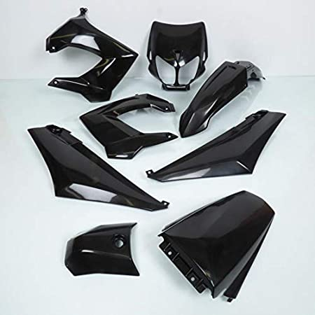 TNTTU Kit Carrosserie Adaptateur Derbi Senda Drd//Xtrem 2003 Noir 7 Pi/èces