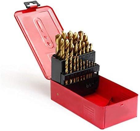 ZGQA-GQA 38pcs 1-13mm HSS Twist Drill Bit Titanium Coated Twist Drill