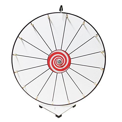 Prize Wheel 24 inch White Face Classic Wooden Peg Design