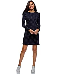 Ultra Womens Flounce Dress with Flared Cuffs
