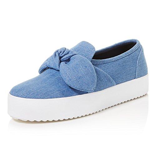 Rebecca Minkoff Women's Stacey Denim Slip-On Sneakers Sz 8.5 Light Blue