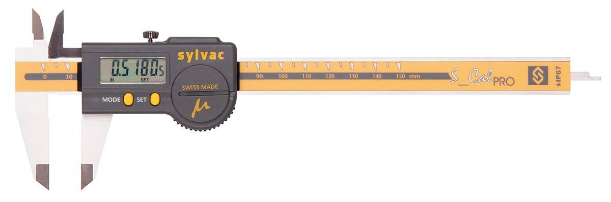 Grey 54-100-100-0 0-6//150 mm Measuring Range Fowler Micron 0.00005//0.001mm High Resolution Electronic Caliper