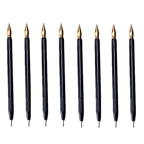 Scratch Color Pen,Gosear Scratch Paper Pens 8 PCS Dual Tip Scratch Art Scratch Coloring Pen Coloring Stylus Scratch Paper Art Tool