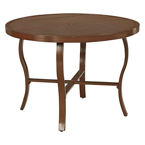 Key West Chocolate Brown Round Outdoor Patio Dining Table by Home Styles ()