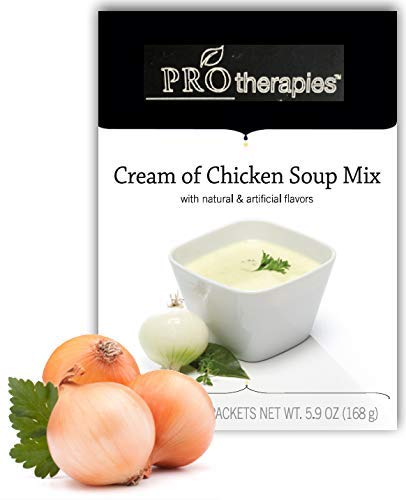 High Protein Soup - Low Carb Cream of Chicken Diet Soup Mix (15g Protein) - 7 Servings/Pack ()