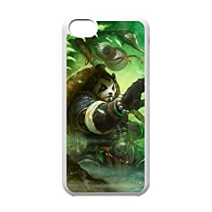 iphone5c White phone case World of Warcraft Chen Stormstout WOW9994702