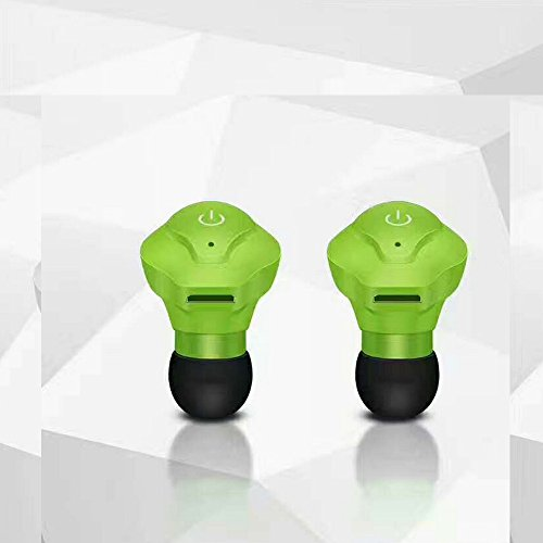 Mini TWS Twins True Wireless Bluetooth Stereo Headset In-Ear Earphone Earbuds with Charging Case Noise Cancelling for iPhone Samsung LG Sony HTC Blackberry (Green) Blackberry Bluetooth Stereo Headset