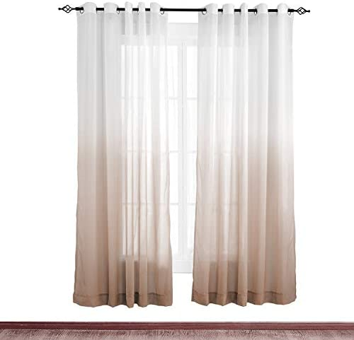 cololeaf Privacy Room Divider Indoor Outdoor Gradient Ombre Premium Curtain Window Treatment Draperie