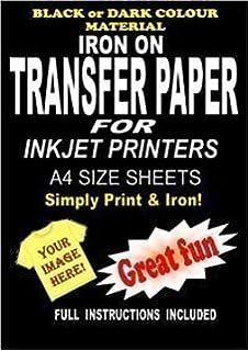 Inyección De Tinta Para Imprimir Hierro En Camiseta Y Tela Papel De Transferenicia Para Telas Oscuras