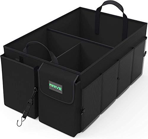 41laToAVeVL Drive Auto Products Kofferraum Organizer - Praktische Kofferraumtasche mit Fächern - Einkaufskorb, Aufbewahrungsbox für…