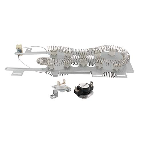 (ApplianPar 8544771 Clothes Dryer Heating Element with 279973 Thermal Cut-Off Fuse Thermostat Kit for Whirlpool Kenmore Maytag Dryers)