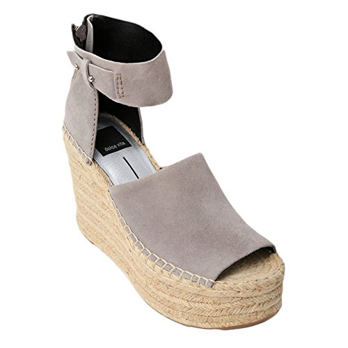Dolce Vita Women's Straw Wedge Sandal, Smoke Suede, 7 Medium US by Dolce Vita