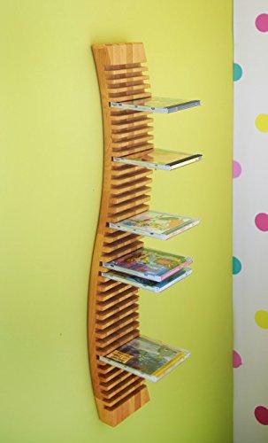 BioKinder 22230 Regal CD-Regal hängend 120 cm aus Massivholz Erle