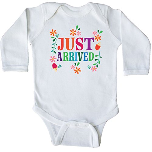 inktastic Just Arrived Baby Girl Long Sleeve Creeper 6 Months White 2d621
