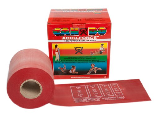 Cando Accu-Force Band Low Powder 50 yds Light Red for rehabilitation, conditioning & training