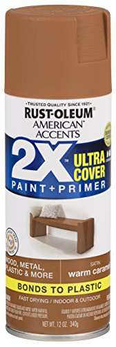 (Rust-Oleum 327924-6 PK American Accents Spray Paint, Satin Warm Carmel)