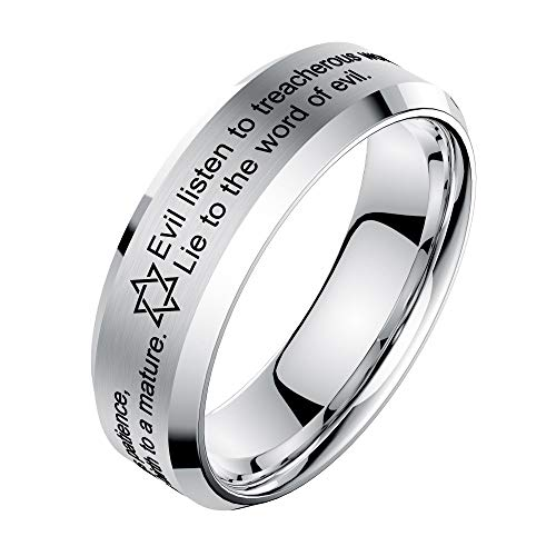 - ★QueenBB★ Basic Men Wedding Black Tungsten Ring Matte Finish Beveled Polished Edge Comfort Fit Engagement Wedding Band