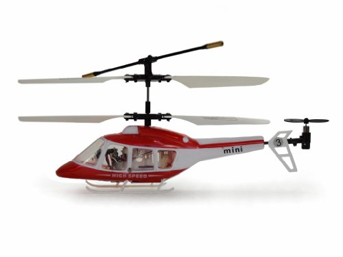 Amewi 25030 Helicopter Quick Thunder II 3-Channels Available in Three Colours Red / Blue & Black Assorted Colours (Blue Thunder Rc Helicopter)
