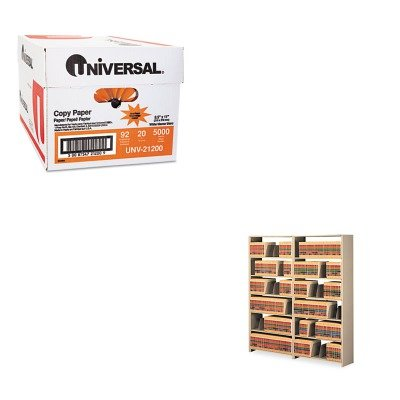 KITTNN128848ACSDUNV21200 - Value Kit - Tennsco Snap-Together Open Shelving Steel 7-Shelf Closed Add-On Unit (TNN128848ACSD) and Universal Copy Paper (UNV21200)