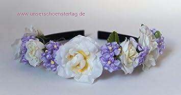47cbb9907bf45e Haarschmuck Haarreif Braut Hochzeit Kommunion Blumenkinder HS0018 ...