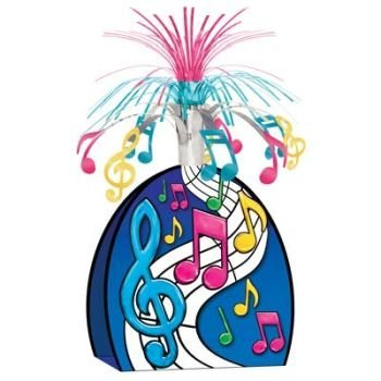 Musical Notes Centerpiece (multi-color) Party Accessory  (1 count) (Music Notes For Centerpiece)